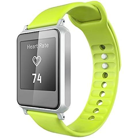 NiceEshop-Orologio cardiofrequenzimetro senza fascia toracica, IWown I7 Tracker Fitness Bluetooth, Touchscreen