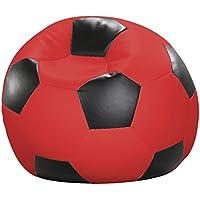 Linke Licardo GmbH Fußball-Sitzball Kunstleder rot/schwarz Ø 90 cm preisvergleich bei kinderzimmerdekopreise.eu
