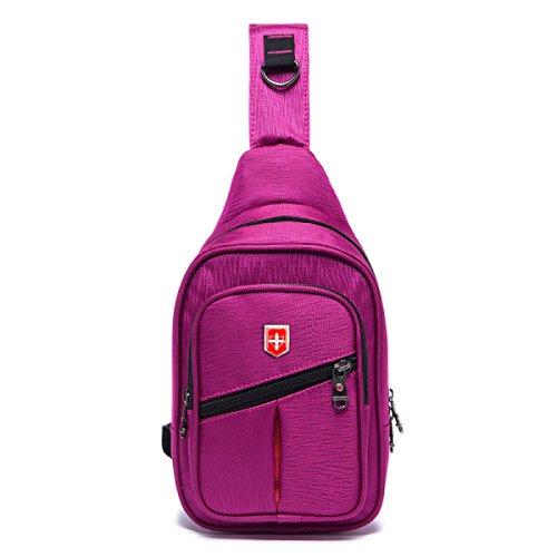 BULAGE Taschen Lässig Brustbeutel Kultur Männer Outdoor Sport Diagonales Paket Meine Damen Computer Mode Natur Ausgehen Einkaufen Purple