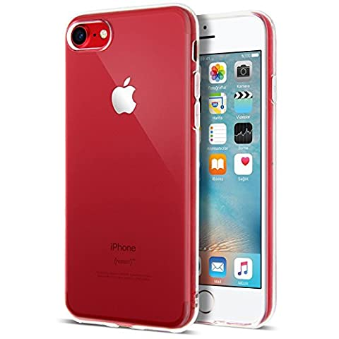 iPhone 7 Case, Crystal Clear Soft Silicone TPU Case and Screen Protector for iPhone 7 Cover [Transparent][4.7