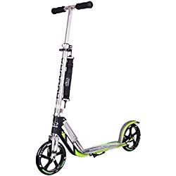 Hudora 14695 Big Wheel GS 205 - Patinete, color verde neón
