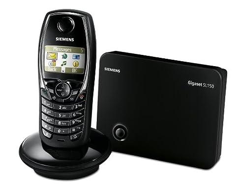 Siemens Gigaset SL150 colour schnurloses DECT-Telefon mit Anrufbeantworter, lackschwarz
