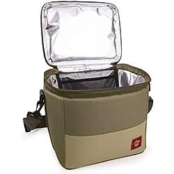 IRIS Sac Isotherme Mini Cooler Bag 8 L, Polyester, Sable
