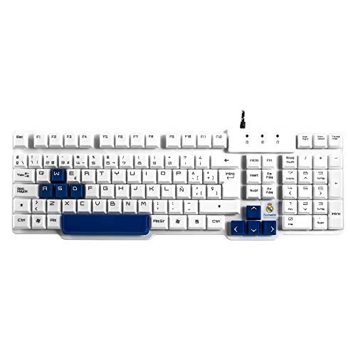 Mars Gaming MKRM, teclado Real Madrid, teclas azules