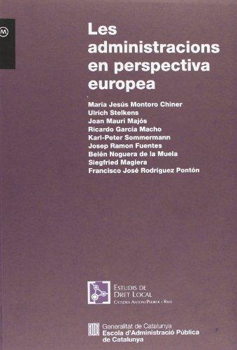 Les Administracions En Perspectiva Europea (Materials)