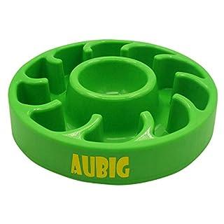 AUBIG Dog Food Bowl Slow Feed Pet Fun Feeder, Slow Feed Interactive Bloat Stop Dog Bowl Green
