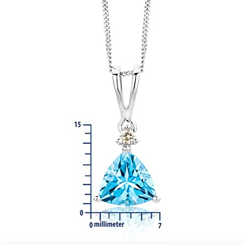 Miore Collier Femme  375/1000 (9 carats) Blue Topaz