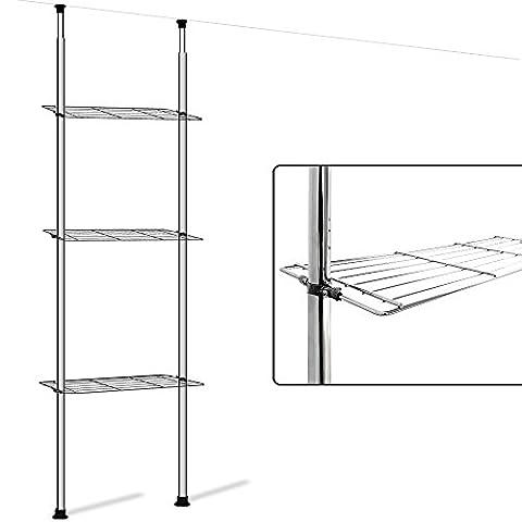 Telescopic Storage Shelf Rack Bathroom Kitchen Storage Caddy Solid Robust Shelving Unit
