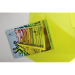 Coloured Acetate Yellow A3 Pack of 10