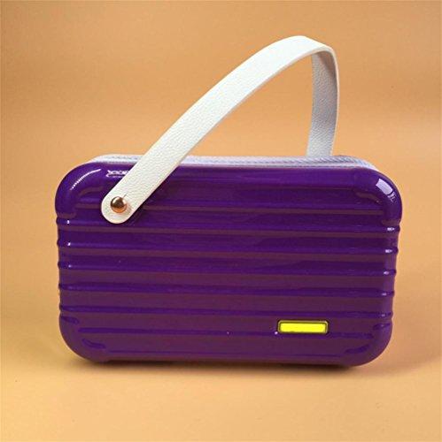 GBT Hochwertige Kupplung Geldbörse Kosmetiktasche Handy Purple