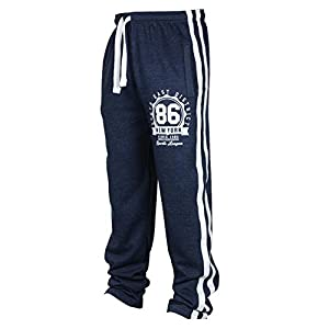 Männer Hip Hop Streifen Hosen Kordelzug Sporthosen Schmale Passform Einfarbig Sporthosen Bequeme dünne Hose Fitness Hosen