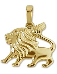 CLEVER SCHMUCK Goldener Sternzeichen Anh/änger Stier 17 x 12 mm gl/änzend und beidseitig plastische Form 333 Gold 8 Karat