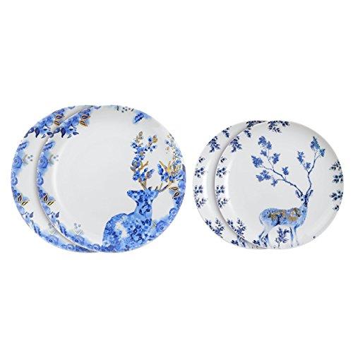 doubleblue-2-x-8-2-x-10-piatto-rotondo-da-cena-microonde-bone-china-per-uso-quotidiano-disegno-alce-