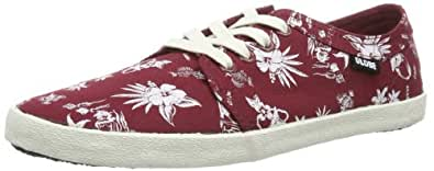 Globe  Red Belly, Sneakers Basses mixte adulte - rouge - Rot (brick red/hawaiian print 19839), 40.5 EU