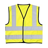 Robelli High Visibility (Hi Vis) Childrens Safety Vest Waistcoat Jacket Small