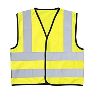 High Visibility (Hi Vis) Childrens Safety Vest Waistcoat Jacket Small