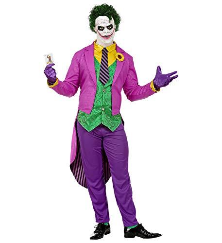 24costumes Joker Kostüm | Clown Kostüm 4-teilig | Kostüm aus berühmten Comic und Film | Halloween- Karneval u. Mottoparty: Größe: - Für Erwachsene Psycho Clown Kostüm