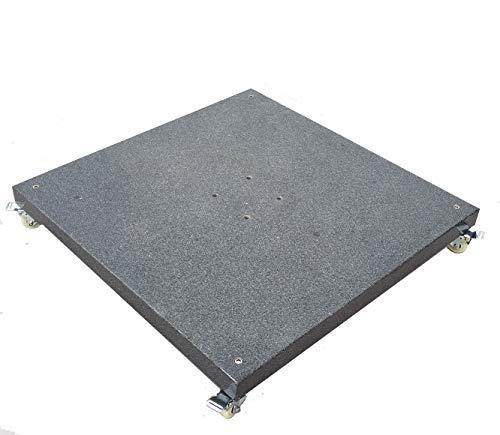 osoltus Granit Schirmständer für Ampelschirme mit Rollen 90kg 80x80cm