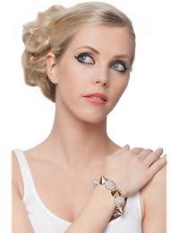 SEXYHER Rock Punk Style Cone Nieten Verzierte Elastischen Handgelenk Armband Mit Diamant Detail SHWM131007B009