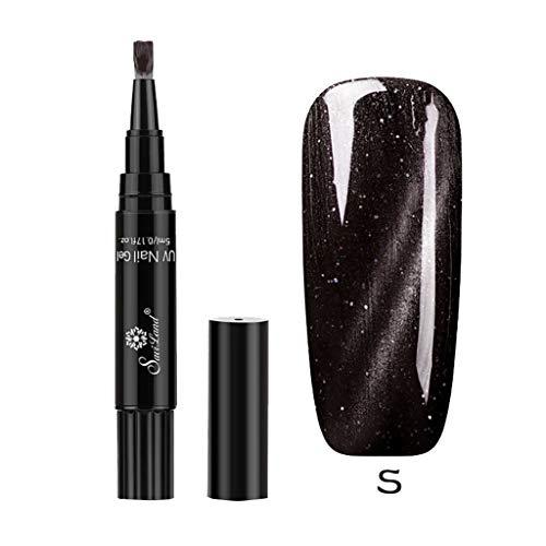 ck-Stift, Lenfesh Semipermanente Gel-Nagellack, UV LED-Nagellack,1 Stück 3 in 1 Nagel Nagelstift 1-Schritt-Nagel für UV-Temperaturwechselgel ()