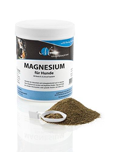MIGOCKI Magnesium - 250 g - Premium Ergänzungsfuttermittel für Hunde - Unterstützung des gesunden Nervensystems für mehr Gelassenheit - Fördert einen lockeren Muskeltonus, gesunde Knochen und Zähne