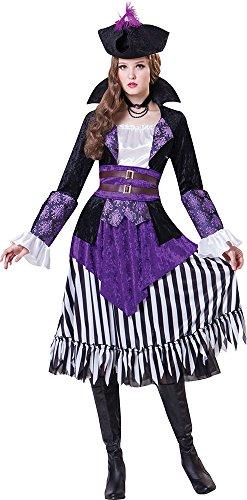 Damen schwadroneur Karibik Kostüm Party Outfit Piraten Königin Kostüm