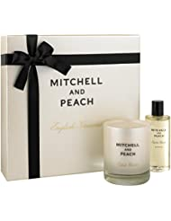 MITCHELL AND PEACH Coffret Cadeau Ultimate Bath Time Flora No.1, Huile de Bain et Bougie Parfumée