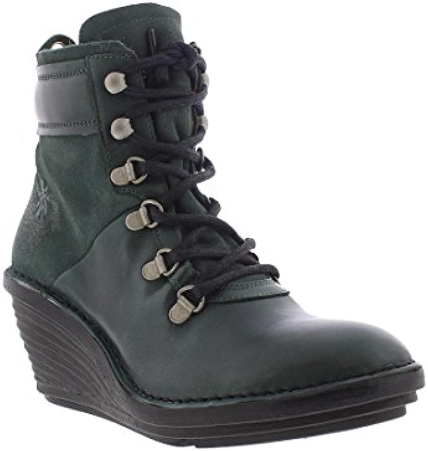 Fly London Womens Sica 678 Seaweed Bottle Leather Boots 37 EU