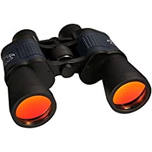 DAXGD 10 x 50 prismáticos telescopio óptico de Militar Impermeable Niebla con correa Mochila Cubiertas de objetivo