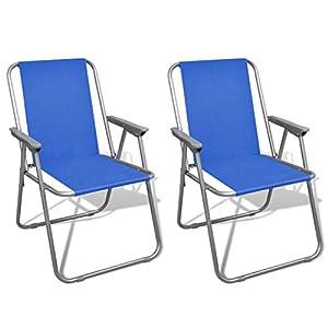 FZYHFA Klappstühle, Blau, für Camping, Outdoor, 52 x 59 x 80 cm (B x T x H)