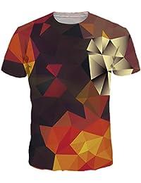 Bettydom Herren kurzarm Unisex Galaxy Stern Casual T-Shirt bunt Manner Hemd Mode Paar Tees