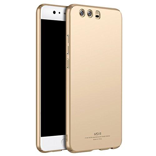 Huawei P10 Plus 5,5 Zoll Hülle, MSVII® Sehr Dünn Hülle Schutzhülle Case Und Displayschutzfolie für Huawei P10 Plus 5,5 Zoll - Rot / RED JY00244 Gold