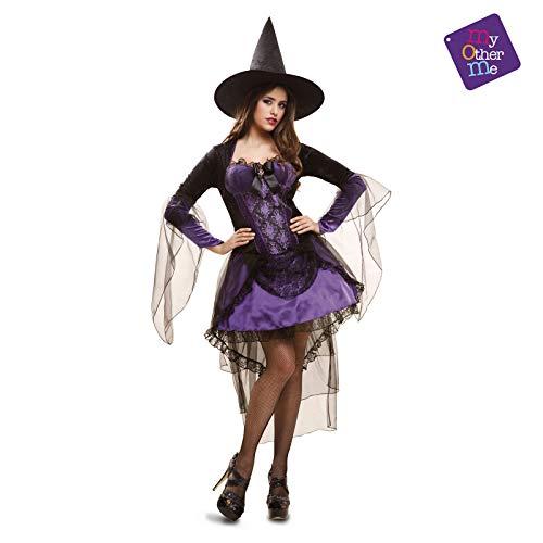 Generique - Déguisement sorcière Glamour Violet Femme Halloween