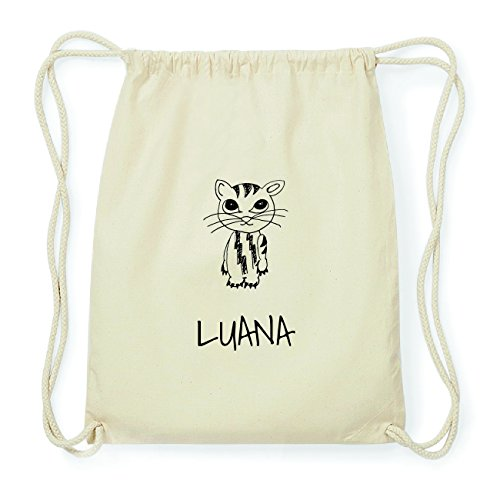 jollipets Luana Hipster Sacca Borsa Zaino in cotone, Design: Katze