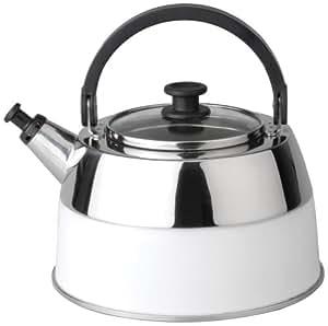 berghoff 2304167 virgo bouilloire sifflet inox blanc cuisine maison. Black Bedroom Furniture Sets. Home Design Ideas