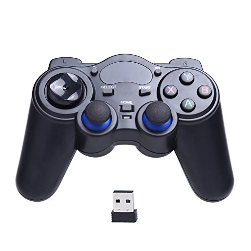 Rrimin Universal 2.4G Wireless Game Gamepad Joystick for Android TV Tablets PC Black