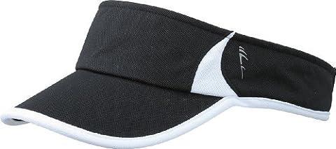 Myrtle Beach Uni Cap Running Sunvisor, black/white, One size, MB6545 blwh (Schildmützen Herren)