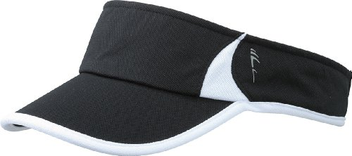 Myrtle Beach Uni Cap Running Sunvisor, black/white, One size, MB6545 blwh