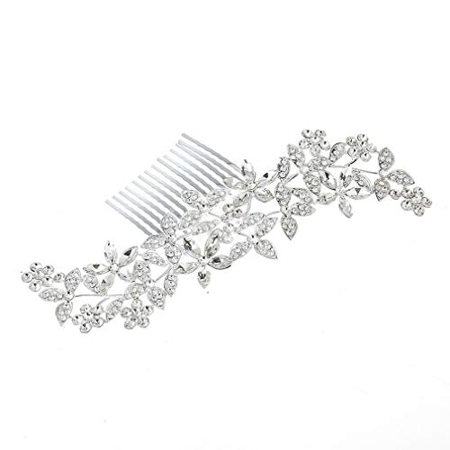 2f29e2aba89d7 Yogasada Crystal Hair Jewelry Charming Wedding Hair Comb Flower Bride  Headdress Silver
