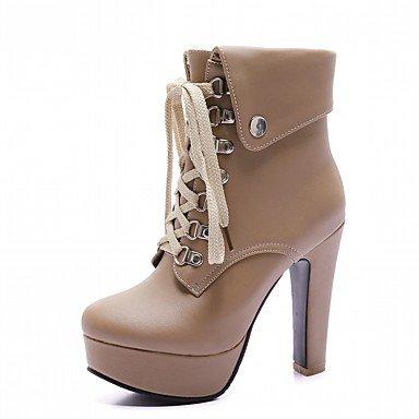Wuyulunbi @ Femmes Hiver Chaussures Confort Nouveauté Combat Bottes Bottes Chunky Talon Bout Rond Bottines / Bottines Avec Lacets Pour Us4-4.5 / Eu34 / Uk2-2.5 / Cn33