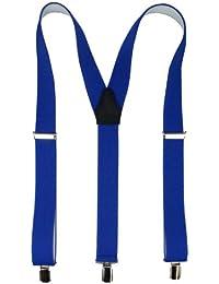 Hochwertige Hosenträger mit starken Clips 35mm in royalblau