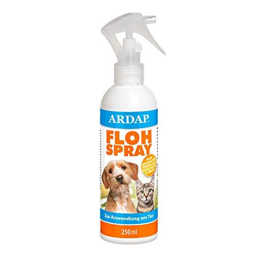 ARDAP Flohspray 250ml zur Anwendung am Tier - Bis zu 4 Wochen Schutz zur gezielten Flohbekämpfung bei Hunden & Katzen