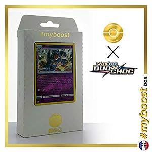 Nidoqueen 56/181 Holo Reverse - #myboost X Soleil & Lune 9 Duo de Choc - Box de 10 Cartas Pokémon Francés