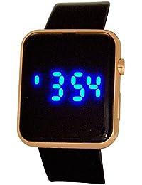 Montre Reflex Digitale Multifonctions pour Ado Bracelet en Caoutchouc Noir