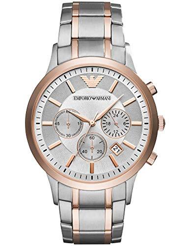 Emporio Armani Herren-Uhren Analog Quarz One Size Edelstahl 87620051