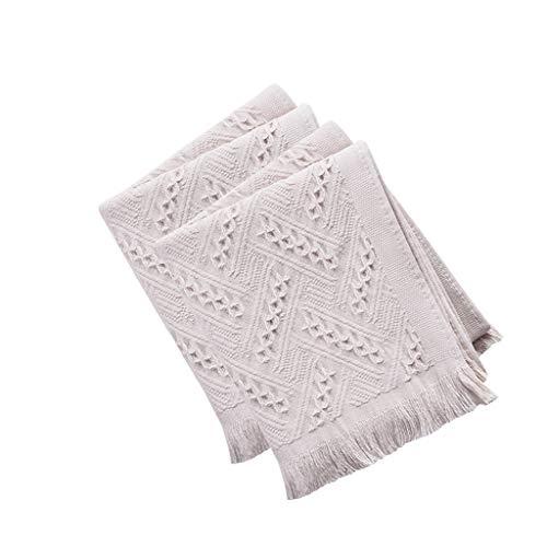 BNBO-L HWH Gaze-Handtuch, Baumwolle Waschen Sie Ihr Gesicht Haushalt Wasseraufnahme Weichen Paar Reinigungstuch Quaste Stil Baumwolle Erwachsene Handtuch Saugfähige Handtücher (Farbe : Gray)