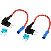Conjunto de fusibles SMD - SODIAL(R) 2 piezas de portafusibles de lamina de Add-A-Circuito de adaptador de TAP