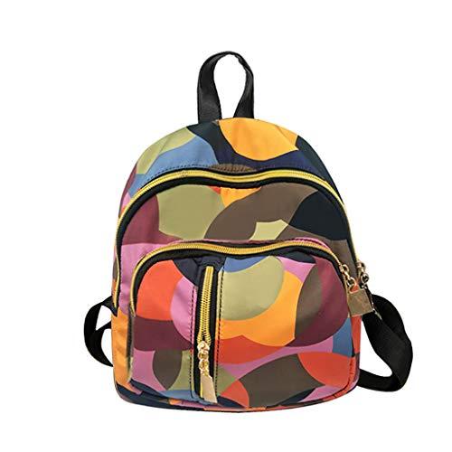 Damen Rucksack Handtaschen Weant Nylon Mehrfarbig Schultaschen Anti-Diebstahl Tagesrucksack Umhängetasche Handtasche Mädchen Schulrucksäcke Sporttasche Reiserucksack Backpack für Schule Reise Arbeit
