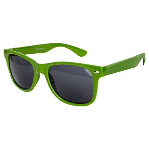 Ciffre Nerdbrille Sonnenbrille Stil Brille Pilotenbrille Vintage Look Grün Dunkel