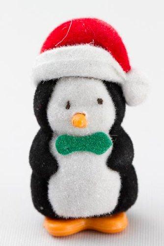 Küche Penguin (Set of 12 Miniature Flocked Baby Christmas Penguins)